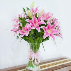 Santa fe con 10 Lilium perfumado