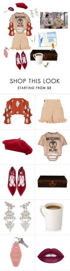 """Wild West In France"" by styledbysomer ❤ liked on Polyvore featuring Mochi, Ganni, Goorin, Moschino, Louis Vuitton, Yves Saint Laurent and Christian Dior"