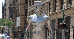 H unveils David Beckham Bodywear silver statue