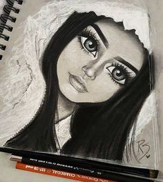"""Likes, 52 Comments - Christina Lorre ( on am: """"I love when I do my makeup and get to the highlighting part and had it on point …"""" Pencil Art Drawings, Art Drawings Sketches, Cute Drawings, Girl Drawings, Amazing Drawings, Beautiful Drawings, Amazing Art, Christina Lorre Drawings, Arte Black"""