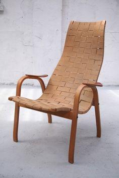 1950s Vintage 'Kurva' Armchair Designed by Yngve Ekstrom #furniture #armchair #vintage