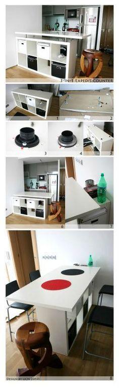 Ben voilà!!! je voulais un petit ilot dans notre cuisine, mais encore une fois, dépenser au minimum 250 euros, moi pas d'accord! Et puis il...