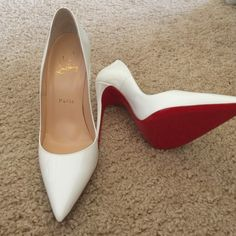NWB So Kate CL size 38 NWB Never worn white So Kate. They come with box/dust bag. I bought them in Dubai on deployment and they are TOO small, so they have sat in my closet for a year. No trades. Christian Louboutin Shoes Heels