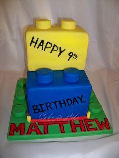 Lego Birthday Cake by Cake is Life ~ Emily, via Flickr