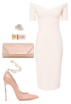 Elegant by dalma-m on Polyvore featuring polyvore fashion style Cinq à Sept Casadei Dorothy Perkins Allurez Yves Saint Laurent clothing