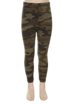 Camoflage Soft Brush Leggings for Girls