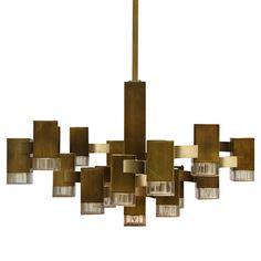 """Gaetano Sciolari """"Cubic"""" Chandelier   From a unique collection of antique and modern chandeliers and pendants  at https://www.1stdibs.com/furniture/lighting/chandeliers-pendant-lights/"""