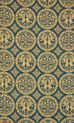 "REPLICA CHALCEDON BLUE BROCADE This Byzantine 12th C ? inspired fabric includes gryphons, the symbol of the human and divine nature of Christ. Fabric samples available free of charge on request Fabric Width: 127cm/50"" (approx) Pattern Repeat: 30cm/12"" (approx) Fibre Content: 42% Cotton, 31% Silk, 27% Lumiyarn"