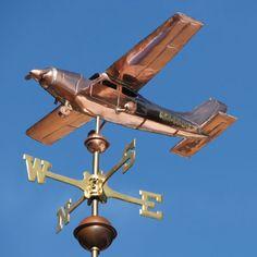 Airplane Weathervane Cessna Cardinal Plane - Artisan Weathervane