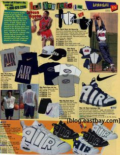 c33cd1fc993 25 Classic Sneakers From Vintage Eastbay CatalogsNike Air More Uptempo