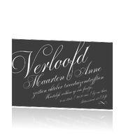 Classic engagementcard. Klassieke verlovingskaarten #typografie #trendy #verlovingskaartje #verloofd #engaged
