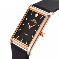 Cheap watch business, Buy Quality watch men directly from China watch men business Suppliers: IBSO Ultra-thin Rectangle Dial Quartz Wristwatch Black Genuine Leather Strap Watch Men Classic Business New Men Watches 2017 High End Watches, Best Watches For Men, Cheap Watches, Cool Watches, Unusual Watches, Fancy Watches, Expensive Watches, Wrist Watches, Fashion Casual