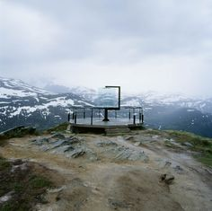 Sight Apparatus by Carl-Viggo Hølmebakk    Located along the road crossing Sognefjell mountain area in Norway, which during the summer months is used by thousands of tourists.