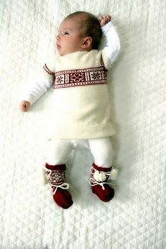 A New Born BabyGirl Christmas Outfit