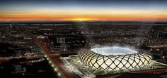Arena Amazônia in Manaus, Amazonas, Brazil will host matches for the 2014 FIFA World Cup. elonearth.com