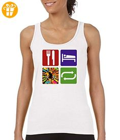 Eat sleep rave repeat graphic Women's Tank Top T-Shirt XX-Large (*Partner-Link)