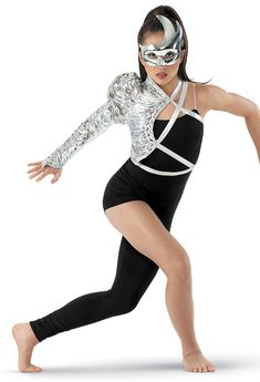 Weissman™ | Metallic Foil Shrug and Unitard