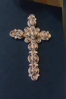Quilling: Cross with Hymnal Music