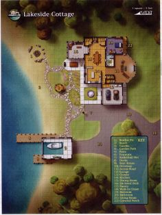 Lakeside Cottage (992×1323); shadowrun, floorplan