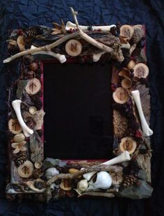 Scrying Mirror but minus the bones~ bones are not my thing.  Witch witchy craft inspiration pagan wiccan