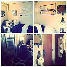 Black and White Dorm Room