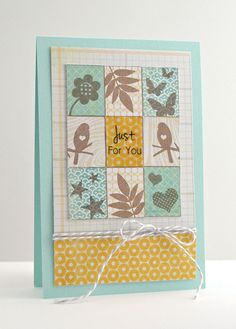 just for you by Amy Wanford, via Flickr...many sets and patterned papers went into this. Nice tips on site!