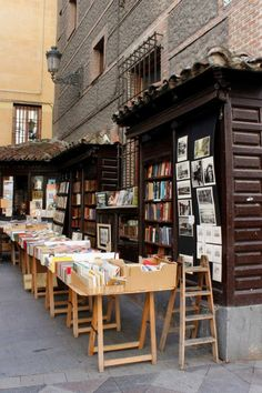 Madrid, Spain, Outdoor Bookstore, Travel, visual, Betsy Harder photography