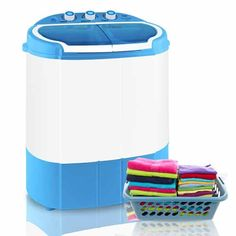 Shop for Portable Washing Machines in Washing Machines. Buy products such as ZENY Mini Twin Tub Portable Compact Washing Machine Washer Spin Dry Cycle- Capacity at Walmart and save. Portable Washer And Dryer, Compact Washer And Dryer, Compact Laundry, Small Laundry, Laundry Rooms, Compact Washing Machine, Washing Machine Reviews, Mini Washing Machine, Washing Machines