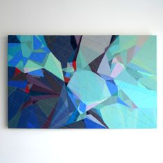 ABSTRACT MOUNTAIN LANDSCAPE No. 4 by Textile Artist Sarah Symes - www.sarahsymes.com
