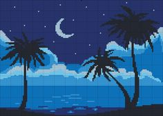 Night sky x-stitch