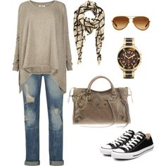 Aviators, scarf and Chucks.  What more do you need?