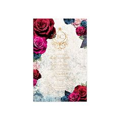 Hayley Invitation / Wedding / Shower / Engagement / Bright Floral / Lace / Ornate / Whimsical / Gold Foil Stamp / Modern / Custom / #myownblissandbone