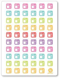 Gas Pump (54) Planner Stickers