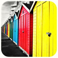 Lovely beach huts on my local beach in UK! Photo submitted by Instagram user joanna for #GEInspiredME contest.