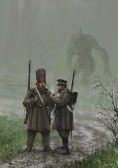 Morbid Fantasy 1863 – Monday - fantasy/horror concept by Jakub Rozalski