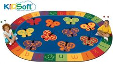 These 10 butterflies will make any learning experience a fun one! Time will flutter by as children learn their numbers 1-10 and the alphabet on this bright and colorful rug. Use this rug for Circletime or anytime to light up your room. What is KIDSoft™? Our new plush yarns create a warm and cozy area... Read more »