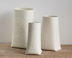 P-Sack - Porcelain Vase. Contemporary ceramic vessel. Designed and crafted by Wapa Studio.