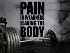Gym Wall Decal For Home Gym Motivational Fitness - Pain Is Weakness Leaving The Body