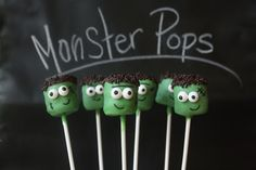 Marshmallow Monster Pops | Munchkin Munchies
