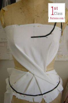 moda curso drapeados