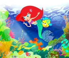 Continuiamo la serie delle  nostre amiche principesse, con Ariel