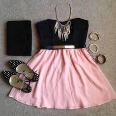 girls dress and accessories.