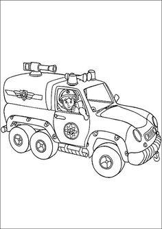 feuerwehrmann sam zum ausmalen 10   diy und selbermachen   pinterest   feuerwehrmann, feuerwehr