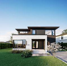 Façade - Cottage classe AA avec garage (crédits 3D GMV3D)