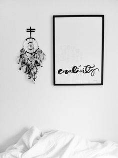Love this poster by Ylva Skarp with black dream catcher