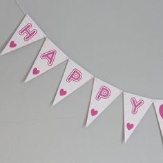 happy birthday bunting medium by daisyley | notonthehighstreet.com