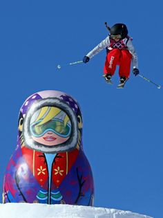 huge Matryoshka on the Slopestyle Course [Sochi 2014 Olympic Winter Games]