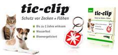 tic-clip: Der bioenergetische Anhänger, der Hunde und Katzen vor Zecken und Flöhen schützt (€24.90) #dog #cat #gadget #health #germany