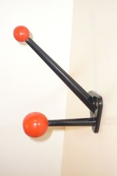 """Thank you for looking at my section  Coat Rack / Coat Hook """"    So typical of the French 50's and 60's !    It's in metal very sturdy with 2"""