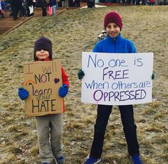 Protest sign ideas for kids. And everyone. Also, pro tip that I learned during my first March: put the sign on both sides. And attach it to a stick so your arms don't get so tired.